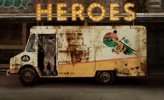 "Album Cover for Andy Mineo's album ""Heroes for Sale"""